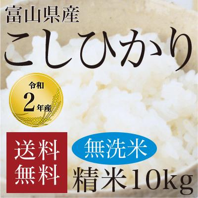 無洗米富山県産こしひかり10kg