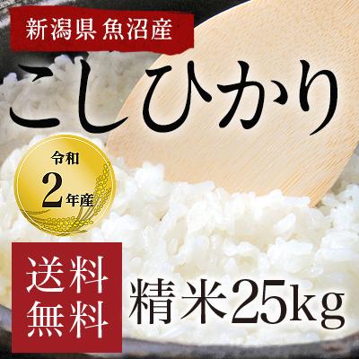 新潟県魚沼産こしひかり25kg